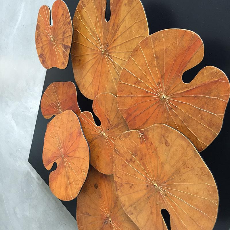 Wandbild aus Lotusblättern