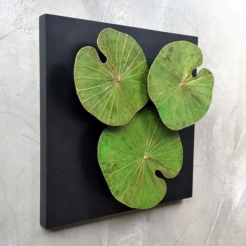 Lotusblätter auf MDF-Platten