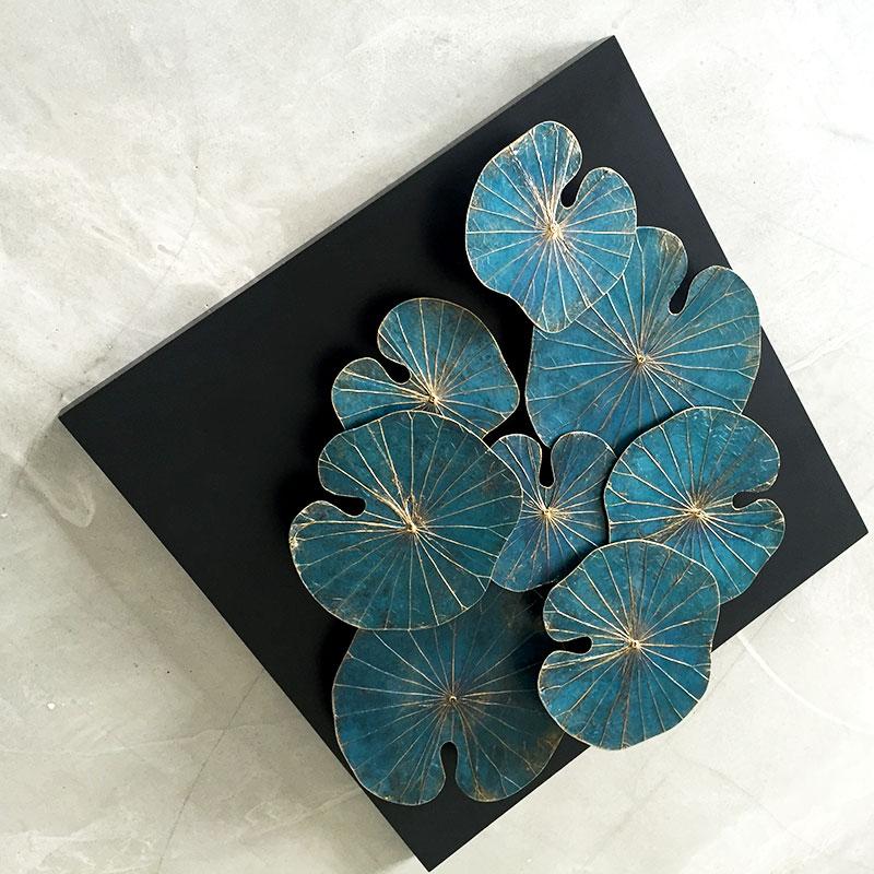 Kunstwerk aus Lotusblättern