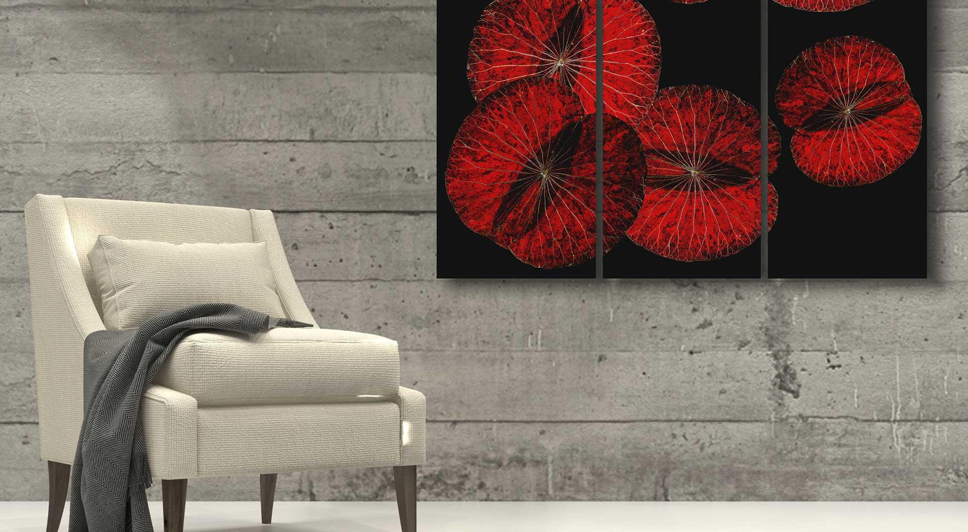 Wandbilder mit Lotusmotiv
