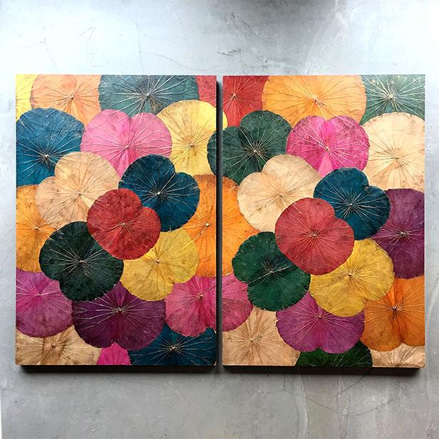 Lotus-Wandbild in verscheidenen Farben